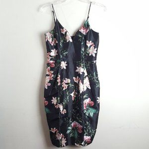Talulah Black and Pink Floral Dress Small